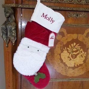 """1209 Pottery Barn Kids """"Molly"""" Lux Velvet Stocking"""